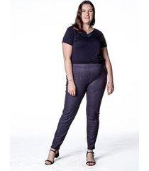 calça alfaiataria risca de giz plus size feminina