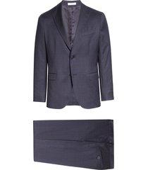 men's boglioli travel k plaid stretch wool suit