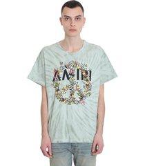 amiri t-shirt in green cotton