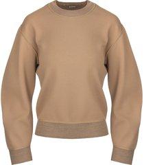 stella mccartney woman camel compact knit sweater