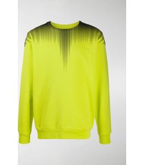 marcelo burlon county of milan fall wings crewneck sweatshirt