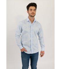 camisa celeste pato pampa  corte ejecutivo hojas