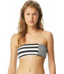 bikini top stripe group bandeau