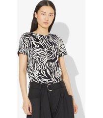 proenza schouler zebra short sleeve t-shirt black/ecru animal m