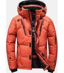 giacca parka invernale da uomo con imbottitura trapuntata imbottita