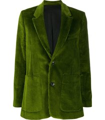 ami paris corduroy single-breasted blazer - green