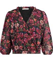 blouse met bloemenprint veda  roze