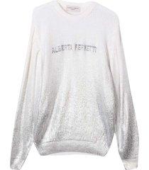 alberta ferretti white sweater