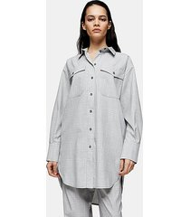 *gray plaid shirt by topshop boutique - grey