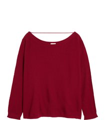 plus size women's caslon fine gauge sweater, size 4x - burgundy