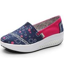 scarpe con zeppa in tela modello rocker sole shake