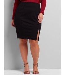 lane bryant women's zipper-hem ponte pencil skirt 26 black