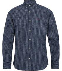 d1. micro print reg bd overhemd business blauw gant