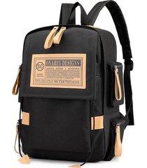 mochila hidratacion vintage oxford laptop backpack college school mochila