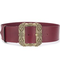 etro square oversized buckle belt - purple