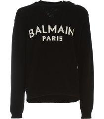 balmain oversized wool pullover