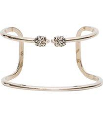 alexander mcqueen golden brass bracelet