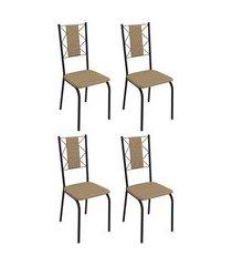 conjunto 4 cadeiras estofadas crome 4c076 lisboa