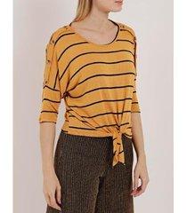 blusa manga 3/4 autentique feminina - feminino