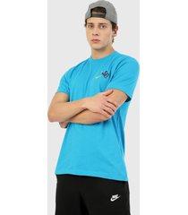 camiseta azul nike sb