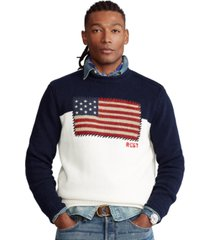 polo ralph lauren men's flag cotton sweater