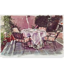 "david lloyd glover 'the patio hotel bel air' canvas art - 12"" x 19"""