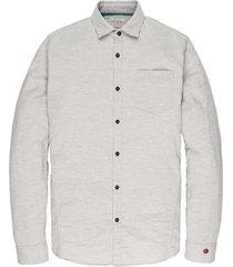 long sleeve shirt ctn double cloth bone white mele