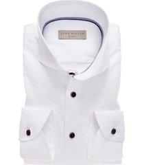 john miller shirt slim fit wit blauwe details