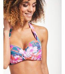 copacabana twist soft cup halter bikini top