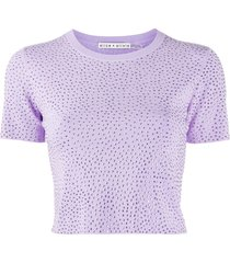 alice+olivia ciara crystal-embellished knitted top - purple