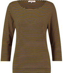 l.o.e.s shirt milena stripe shirt darkblue/gold