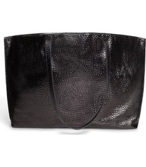 akris ai hammered calfskin leather tote -