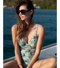 manila underwire deep plunge eco one-piece swimsuit