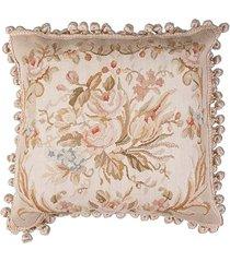 almofada aubusson silk flores 3 - 50 x 50