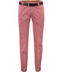 meyer pantalon bonn rood flatfront riem