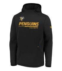 majestic pittsburgh penguins men's locker room rink hoodie