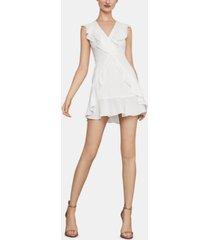 bcbgmaxazria ruffled fit & flare dress