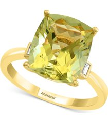 effy lemon quartz (4-5/8 ct. t.w.) & diamond (1/10 ct. t.w.) statement ring in 14k gold