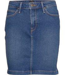 mid skirt knälång kjol blå lee jeans