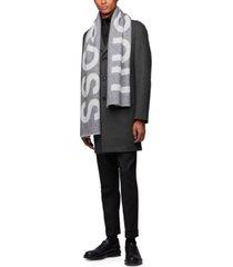 boss men's alvaro logo-jacquard scarf