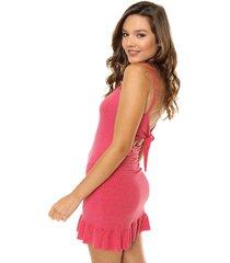 vestido rosa nylon
