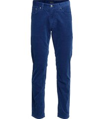 d1. slim cord jeans slim jeans blauw gant