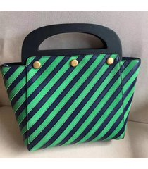 tory burch striped bermuda bag