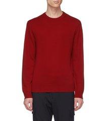 contrast seam cashmere sweater