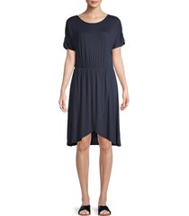 vero moda women's donna short-sleeve jersey dress - navy - size xl