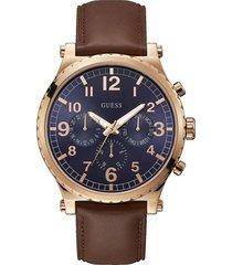 reloj guess arrow/w1215g1 - café y oro rosa