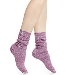 women's ugg ribbed crew socks, size one size - purple