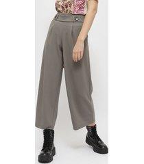 pantalón jacqueline de yong gris - calce holgado