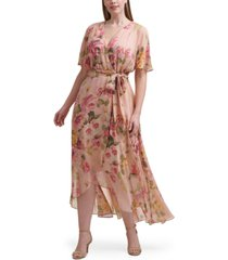 jessica howard plus size floral-print maxi dress