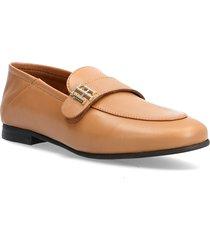 th essentials leather loafer loafers låga skor brun tommy hilfiger